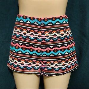 H&M Coachella jacquard woven boho shorts festival